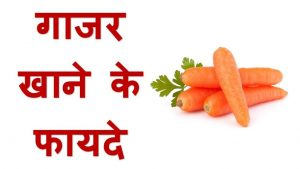 गाजर के फायदे Benefits of Carrot In Hindi