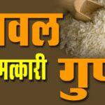 चावल के गुण हिंदी में