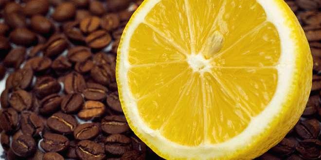 कॉफी और नींबू का इस्तेमाल