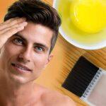 बालों में अंडा